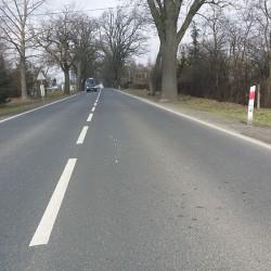 jeden z odcinków 20 km nakładki na DK 25i DK 15