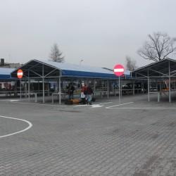 targowisko miejskie w Trzemesznie po przebudowie