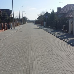 ul. Boleslawa Leśmiana  w Inowrocławiu po przebudowie
