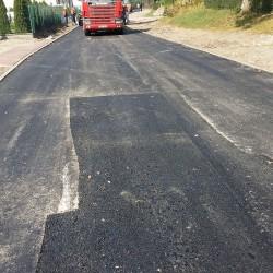 ul. Łączna w Janikowie w trakcie przebudowy