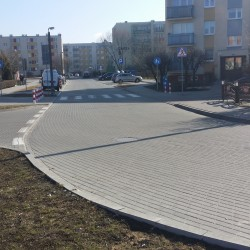 ul. Pawła Cymsa  w Inowrocławiu  po przebudowie