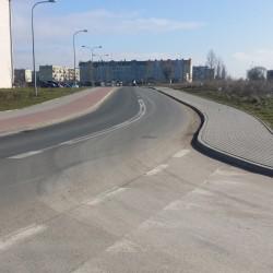 ul. Rąbińska  w Inowrocławiu  po przebudowie