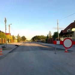 ul. Rąbińska w Inowrocławiu  w trakcie przebudowy