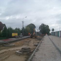 ul. Wiejska w Kruszwicy w trakcie przebudowy
