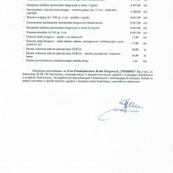 Referencje Dąbrówka Kuj. 2016-2